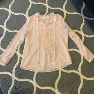 Calvin Klein Blush Button Up Blouse Sz. L
